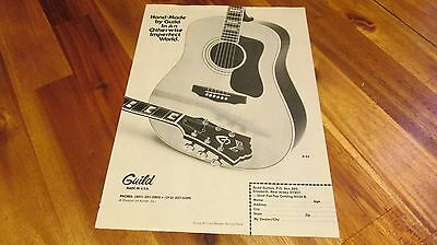 1979 Guild D-55 Guitar Made in USA Pinup Ad