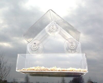 Bird Feeder House Ledge Window Display with FREE Bird Food Non Germinate Seed