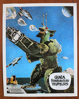 THE X FROM OUTER SPACE (1967) 8 Rare Original German Lobby Cards Sci-Fi Kaiju