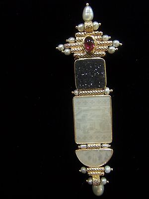 Donna Chambers  14K Pin Or Enhancer Antique Gambling Counter / Chip  $2800   Usa