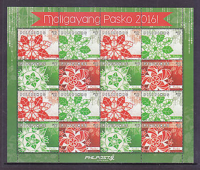 Philippine Stamps 2016 MNH Christmas Lanterns sheetlet (Laminated, Glossy paper)