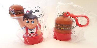 "2 New Bob's Big Boy ""Coin Keeper"" Banks - Hard Plastic Figures 3"" Tall"