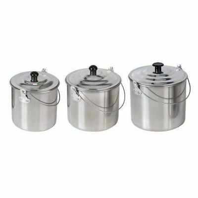 3 Piece Aluminium Billy Can Set for Camping