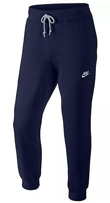 Men's Nike Aw77 Navy Cuffed Jogger Sweatpants Slim Fit 598871-451 Large