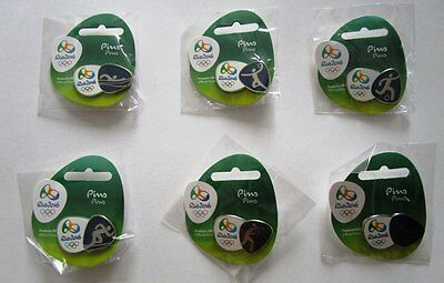 Rio 2016 Olympic Games Official Pin Pictogram Badges Sports Mascots Logos