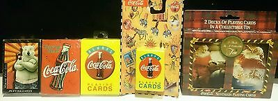 lot of 5 packs Coca-Cola playing cards, NEW
