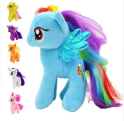 "My Little Pony Horse 9"" Figures Stuffed Plush Soft Teddy Doll Toy Kids Toy CE"