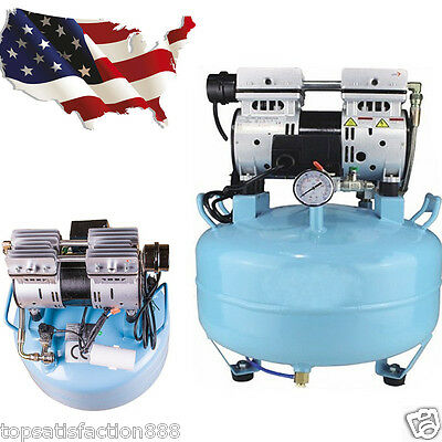 by USA Dental UNIT Medical silent Noiseless Oil fume Oilless Air Compressor 30L