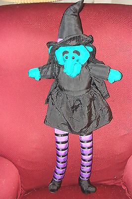 "WICKED WITCH PLUSH 27"" TALL GREEN SKIN Four Star International Trading '94"