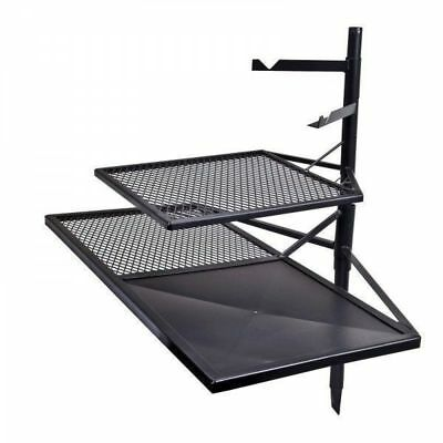 Camping Cooking Grill Combo with 2 x BBQ grills and hanging hooks