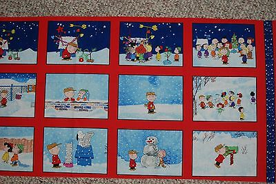 Charlie Brown Peanuts Christmas fabric Quilting Treasures panel last one