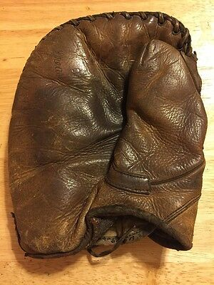 Old Vintage baseball glove Says Greased?? Please See Pics For Details - Baseman