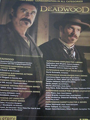 Deadwood   Timothy Olyphant from Justified Ian McShane  Emmy Ad