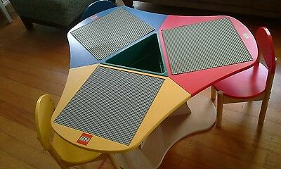 LEGO Kids Table and 3 Chair Set in Good Used Condition Pickup or Postage avail