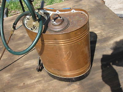 Mondial Antique Vintage Copper Brass Tank Backpack Sprayer Lawn Insecticide