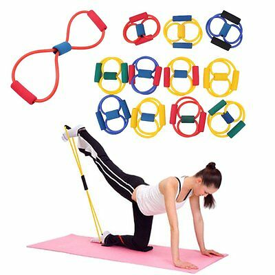 Fitness Resistance Band Rope Tube Elastic Exercise for Yoga Pilates Workout NP