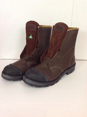 """Royer ""  Safety Boots / Work Boots 8"" SA Approved Size 14 EEE Brown - Canada"