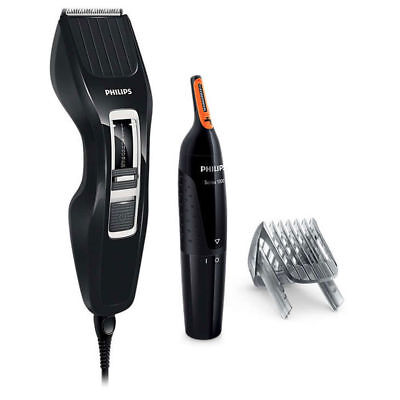 Philips HC3410 Dual Cut Hair Clipper + Cordless Nose Trimmer/Ear/Eyebrow Groomer