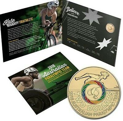 2016 $2 Australian Paralympic  $2 Olympic Coin In RAM Folder  !!!