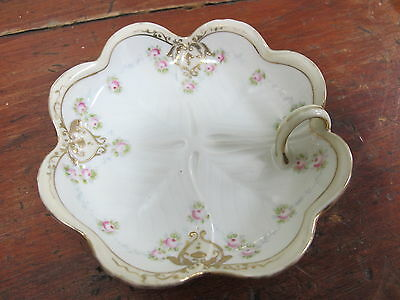 Antique Nippon Lemon Serving Dish Lightly Gold Moriage 5 1/2 inches across