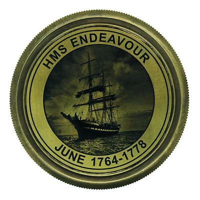 Stunning Antique HMS Endeavour Compass with Wooden Box (NTA15)