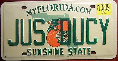 2009 Florida Vanity Personalized License Plate Auto Tag Just Ducky Peachy Keen