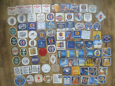92 Different FOSTERS Australian &  Overseas  Issue collectable COASTERS