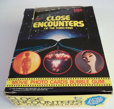 1978 TOPPS CLOSE ENCOUNTERS 3RD KIND Empty DISPLAY BOX Wax Gum Cards No Packs