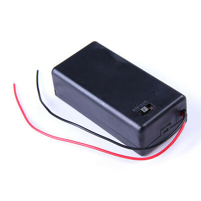 LGB (3) Three 9V DC Cell Battery Holder Box with on/off switch w/ 6 inch Leads