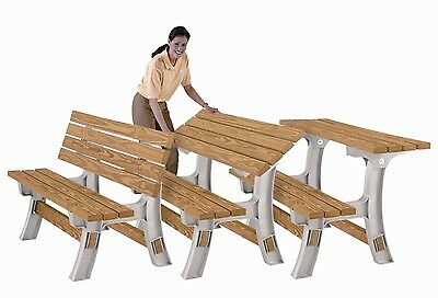 Wooden Table Bench - Flip Top Bench - any size - just add your CLS 2x4 Timber. H
