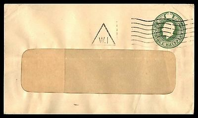 1/2 pence green classic postal stationery cover with triangle cancel