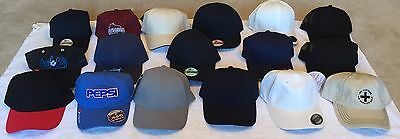 Liquidation Lot of 17 BRAND NEW Baseball Caps - Assorted Brands and Colors