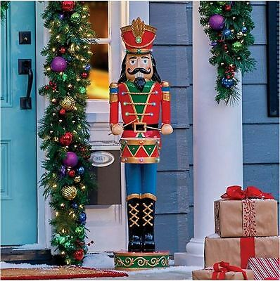 Christmas Lighted Toy Soldier 4 Feet Tall Nutcracker Decoration Front Porch Home
