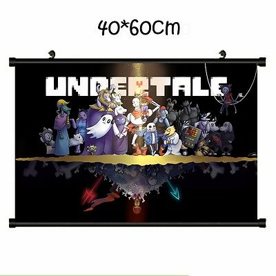 HOT Game Undertale Cosplay Ornament Whole Art Home Decor Set Wall Scroll 40*60CM