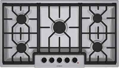 "NEW BOSCH NGM5654UC 36"" Gas Cooktop with 5 Sealed Burners SS Auto Reignite"