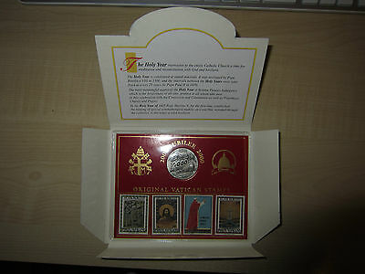 Vatican Jubilee 2000 Coins Medaille + Timbres