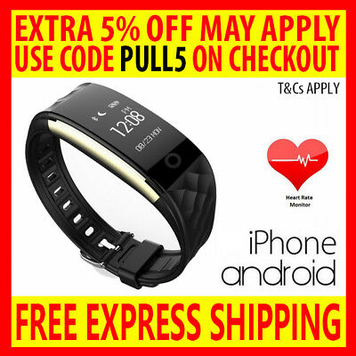 Heart Rate Activity Sleep Tracker Wristband Fitbit Hr Style Watch Iphone Android