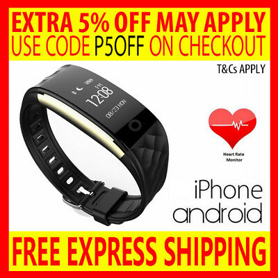 Heart Rate Activity Sleep Sport Tracker Wristband Fitbit Hr Watch Iphone Android