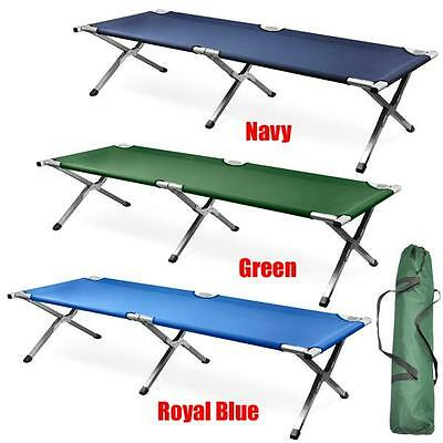 Portable Outdoor Leisure Quick Folding Aluminum Single Camping Camp Bed & Bag