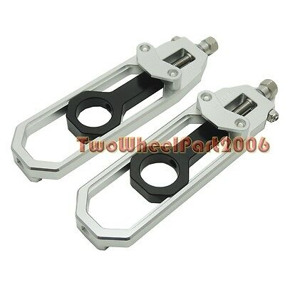 Motorcycle Chain Adjuster for Yamaha YZF R1 YZF-R1 2007 2008 2009 10 09 Silver
