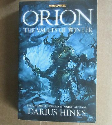 Orion the vaults of winter black library book fiction warhammer fantasy novel