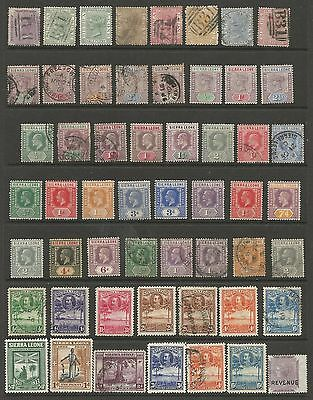 Sierra Leone Qv To Gv Mint And Used Collection ,good Cat,see Scan