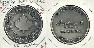 Canadian Association of Token Collectors Trade Dollar Medal - Ted Boxall