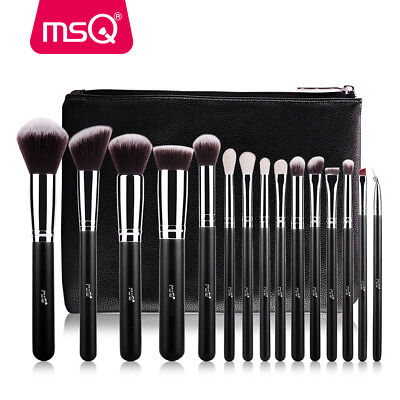 MSQ 15Pcs Makeup Brush Set Cosmetic Foundation Blending Pencil Brushes Kabuki