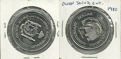 1980 Owen Sound, Ontario Canada Diamond Anniversary Trade Dollar