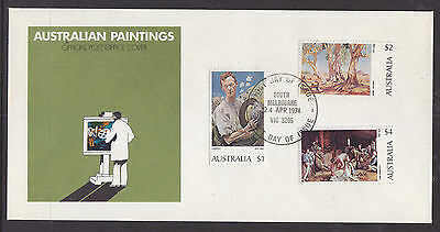 Fdc: 1974 Australian Paintings.