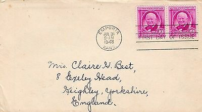 1948 Usa William Allen White Pair Fdc From Collection I16