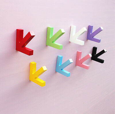 Creative Wooden Arrow Clothes Hangers Wall Hanging Hooks Room Decoration