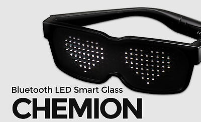 CHEMION 2 Smart Bluetooth LED Sunglasses Club Party Sports Glasses