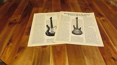 Vintage Washburn Force 30 Guitar & Force 40 Eq Bass info article ad